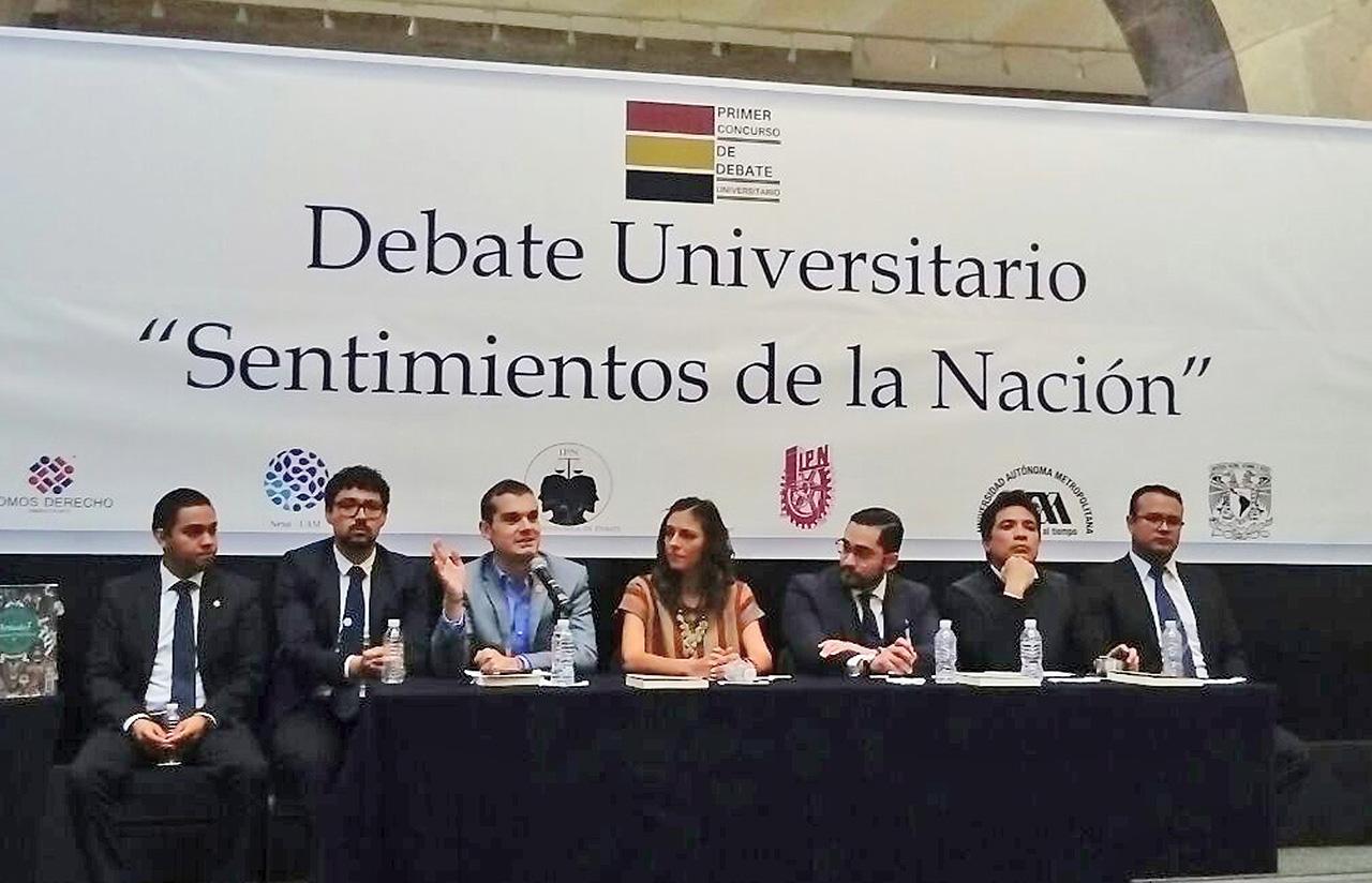 """4 Nov – Concurso Debate Universitario """"Sentimientos De La Nación"""""""