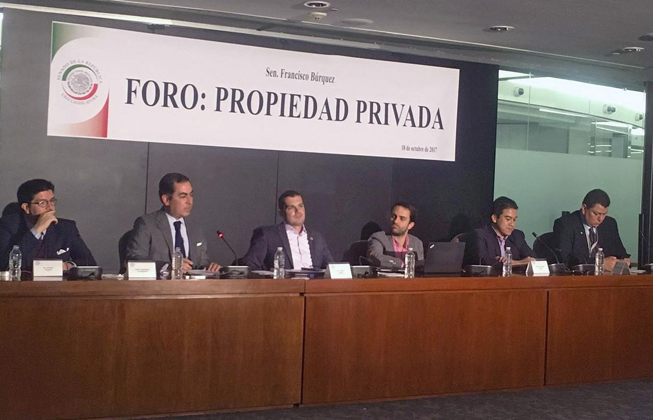 18 Oct – Foro Propiedad Privada › Senador Francisco Búrquez