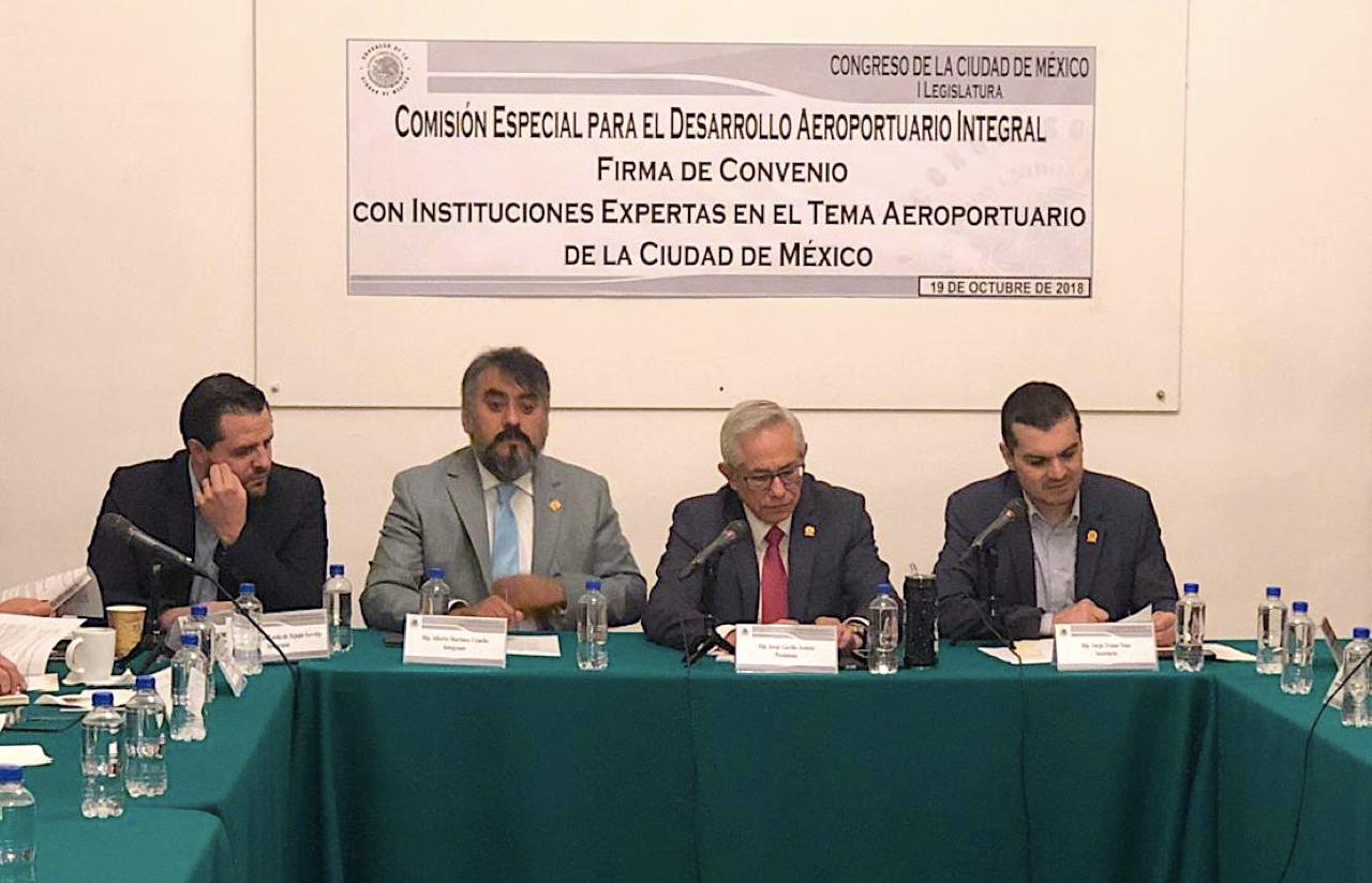 19 Oct – Firma De Convenio Con Instituciones Expertas Sobre El NAICM