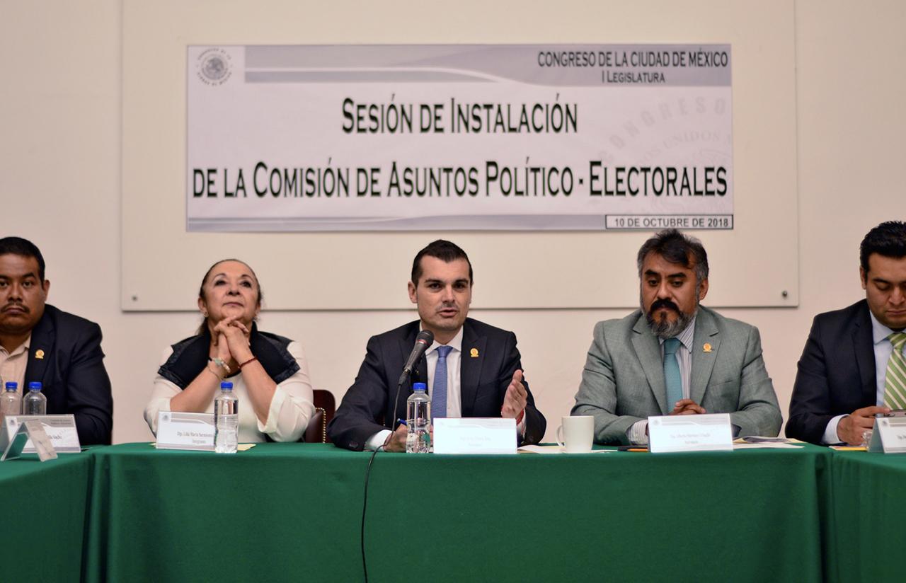 10 Oct – Sesión De Instalación De La Comisión De Asuntos Político – Electorales